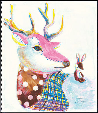 Patchwork reindeer