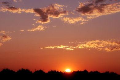 Himmel im Abendrot