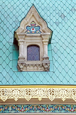 Giebelfenster an der russischen Kapelle auf der Mathildenhöhe