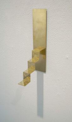「波紋の階段」< ripple staircase >   - Brass Garden- ギャラリーなつか,  小林正樹 KOBAYASHI Masaki