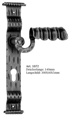 Art.1072 Schmiedeeisen Langschildgarnitur