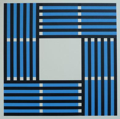 """Blue Circle"" 32 x 32 cm"
