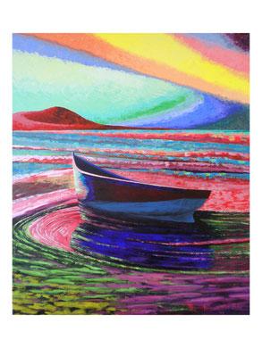 The boat  Acrylic on canvas 100x120 cm 2008
