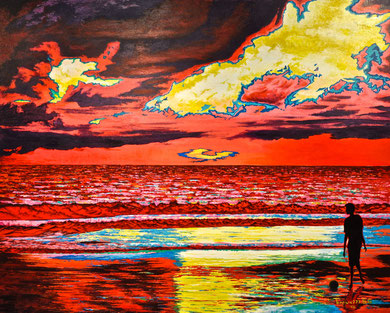 Passion ... of a sunset on the sea - 100x80 cm