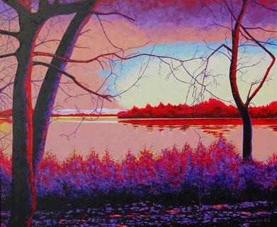 The lake  Acrylic on canvas  120x100 cm  2011