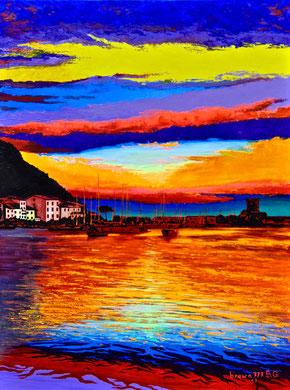 Sunset colors Acrylic on canvas 60x80 cm 2017