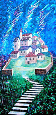 In the world of fairy tales  Acrylic on canvas  40x80 cm  2011