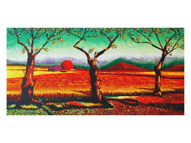 Summer sun  Acrylic on canvas 120x60 cm 2008