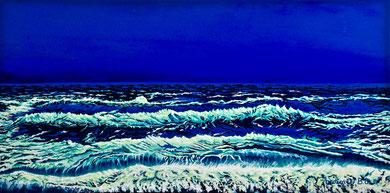 The sea at dusk Acrylics on canvas 40x60cm   2017