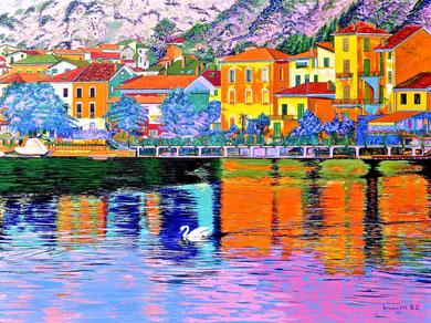 Porto Ceresio ... a colori ! ( collezione privata) 120x90  2014