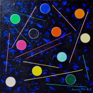 La nascita dei colori - Acrilico e inx su tela 80x80  2014