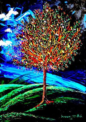 Colors tree   Acrylic on canvas  50x70 cm     2012