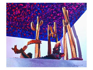 The last sun  Acrylic on canvas 100x80 cm  2010