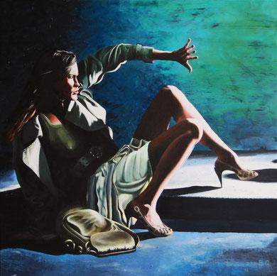 Aggression  Acrylic on canvas  80x80cm   2012