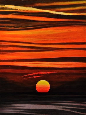 Sunset on the sea Acrylic 60x80cm   2015 ( Private collection)