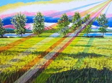 Summer  end      Acrylic on canvas 80x60 cm   2012