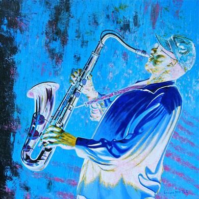Bianco ... nella musica nera ! (Collezione privata) 80x80  2012