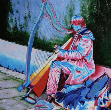 Poesia di un'arpa  ( Collezione privata)  80x80   2012