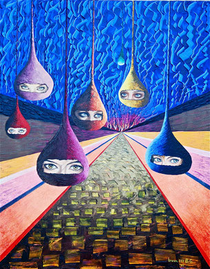 Glances from the future  80x100 cm  2011