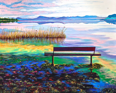 Quiet ... after rains  Acrylic 100x80 cm    2014
