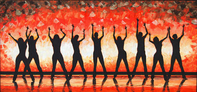 Dance to the joy  Acrylic on canvas 120x50 cm  2010