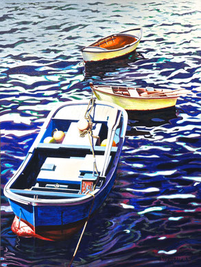 In the fishing port Acrylics on canvas 80x60 cm   2016