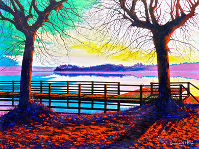 View on the lake  80x60 cm   2014 ( private collection)