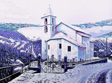 Chiesetta di Altanca ( collezione privata) 80x60 2014