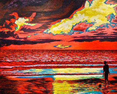 Passione ... di un tramonto sul mare - 100x80 2016