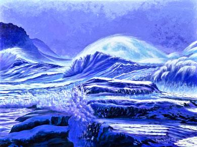 Sea in winter  Acrylic on canvas 80x60 cm  2017