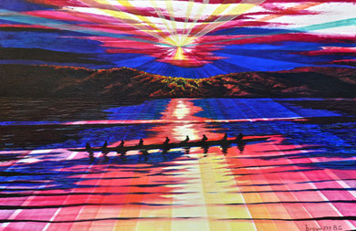 Rays on the lake 120x80cm  2009