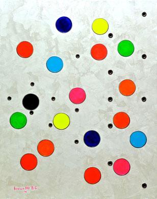 Bianco, nero ed i colori - Acrilico ed acciaio su tela 80x100 - 2014