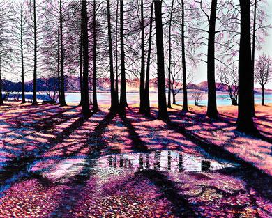 Colors ... and shadows !  Acrylic on canvas 100x80 cm  2018