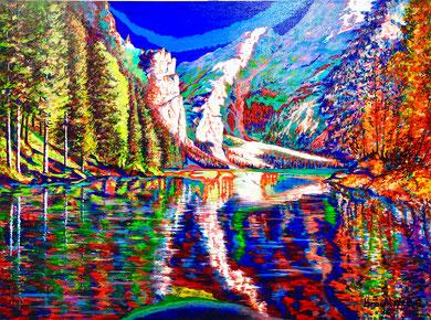 Colori d'autunno tra lago e monti  60x80  2016