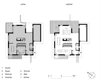 Kurlig Winterthur: Grundriss Wohngeschoss vorher und nachher