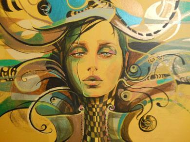 Deep inside   80 x 60 cm  / Acryl