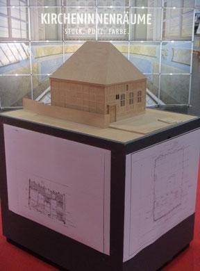 Modell und Aufmaßpläne der ehem. Synagoge von Stavenhagen gezeichnet und gebaut während meiner Arbeit zu meiner Dissertaion