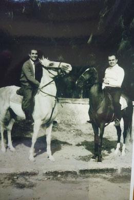 Kairo 1958 Reiten am Mena House Hotel