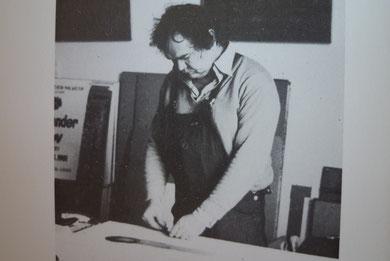 Ende der 80er Jahre bei der Arbeit im Atelier Düsseldorf