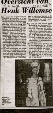 Krant artikel 26 feb. 1986