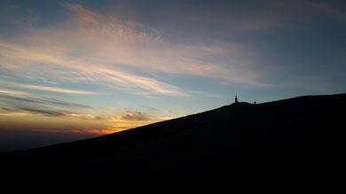 Mont Ventoux, coucher de soleil