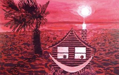 Laurent Gugli-Home Star100x65 cm Acrylique sur toile
