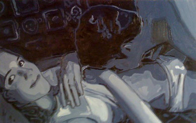 Laurent Gugli-Jenny Oil Two 100x65 cm Huile sur toile