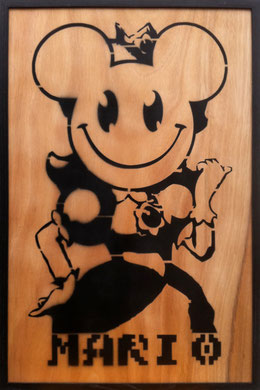 Laurent Gugli Daisy Princess Spray Paint CP 75x50 cm