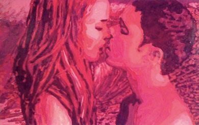 Laurent Gugli-Jenny Wave 100x65 cm acrylique sur toile
