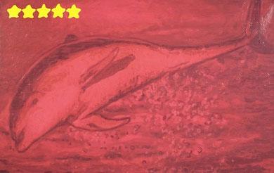 Laurent Gugli-Dolfin Star 100x65 cm acrylique sur toile