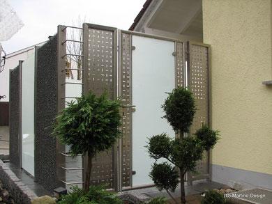 Tür Tore Edelstahl Glas Lochblech