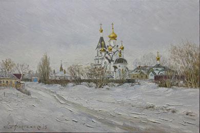 "289  ""Село Бокино"" Х.,м.  60х90  2015 г."
