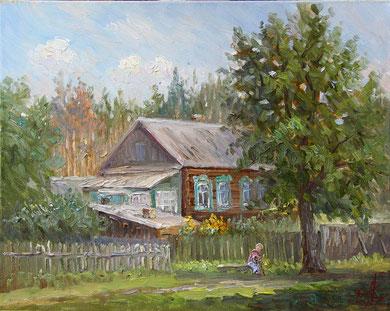"""""""Дом бабы Нюры"""" Х.,м. 40х50 2013 г."""