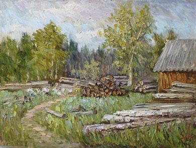 """""""Вислый бор""""  Х.,м.  30х40  2013 г."""